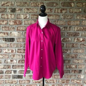 Lauren Ralph Lauren XL Fuchsia Button Down Shirt